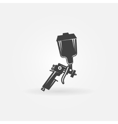 Spray gun icon vector