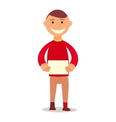 Student Kid isolated vector image