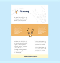 template layout for reindeer comany profile vector image