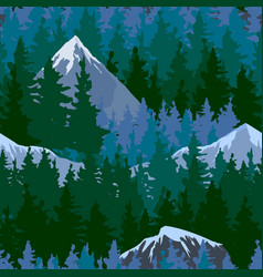 tree outdoor travel mountain forest pine vector image