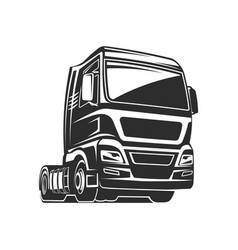 truck cargo freight monochrome vector image