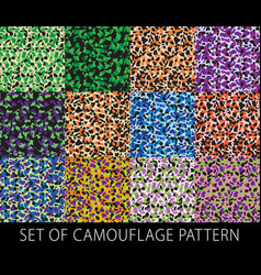 Ultimate camouflage set seamless tileable vector