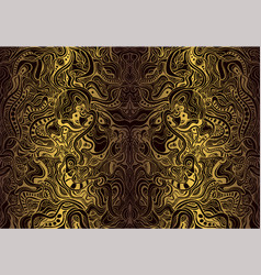vintage bohemian ornamental background golden vector image