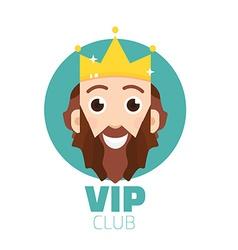 VIP club logo VIP Club members only logo Diadem vector