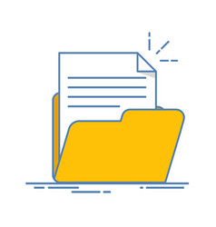 document in the folder icon paper sheet with vector image