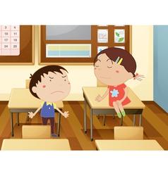 Kids at school vector image vector image