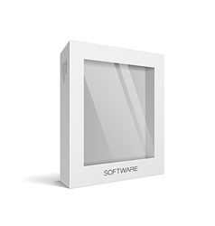 White box packaging vector image
