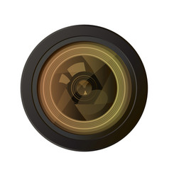 camera photo lens equipment photography technology vector image