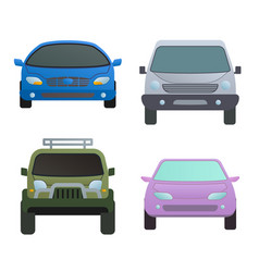 car auto vehicle transport type design travel race vector image