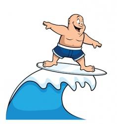 cartoon surfer vector image vector image