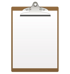 clipboard and paper vector image vector image