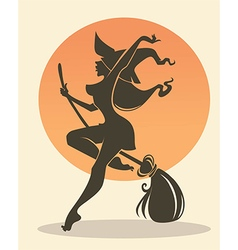happy witch vector image