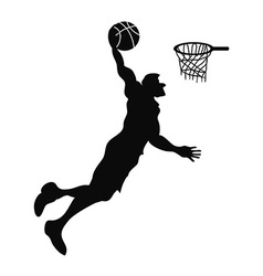 isolated Basketball player Slam Dunk vector image