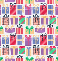 Seamless pattern with gifts vector image