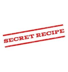 Secret recipe watermark stamp vector