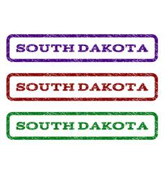 south dakota watermark stamp vector image