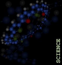 three dimensional molecule vector image vector image