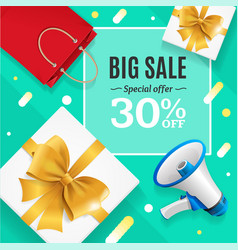 big sale banner card or poster vector image