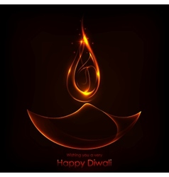 Diwali Holiday background vector image vector image
