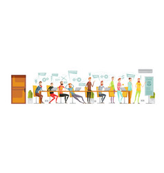 game development meeting composition vector image
