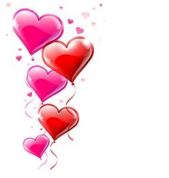 Heart shaped balloons vector image vector image