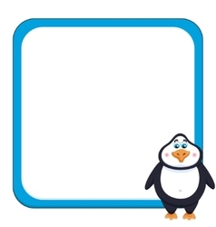 School background with cheerful cute penguin vector