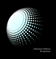 set abstract halftone 3d spheres 8 vector image vector image