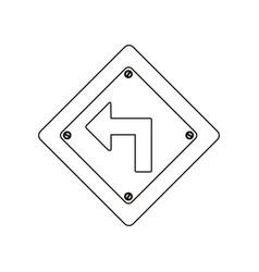 silhouette metallic diamond frame turn left vector image vector image