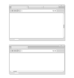 Web browser windows template vector image vector image