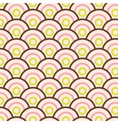 Abstract seamless pattern simple waves vector image