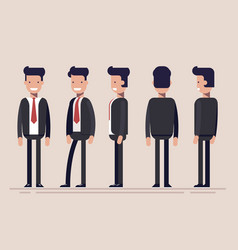 businessman or manager from different sides front vector image