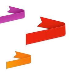 Colorful Web Ribbons Set vector image