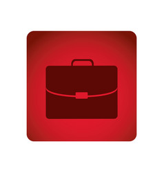 red emblem suitcase icon vector image vector image