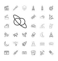 33 space icons vector image
