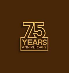 75 years anniversary design line style vector