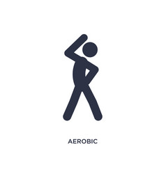 Aerobic icon on white background simple element vector