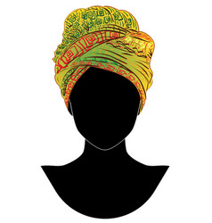 african style turban vector image