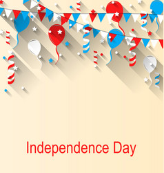 American patriotic banner for independence day vector