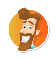 avatar jolly bearded man vector image