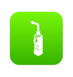 avto welding torch icon green vector image
