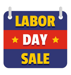 banner labor day sale logo icon flat style vector image
