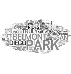 Belmont park in san diego text word cloud concept vector