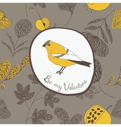 Bird valentine background vector