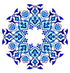 Blue artistic ottoman pattern series sixty vector
