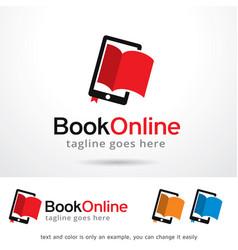 Book online logo template vector