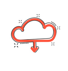 Cartoon cloud icon in comic style cloud sign vector