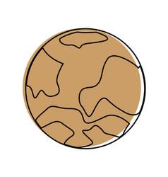 celestial body icon image vector image