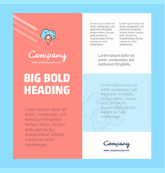 cloud navigation business company poster template vector image