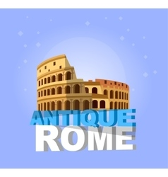 Coliseum in Rome Italy Colosseum vector image