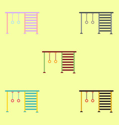 Collection in flat style park vector